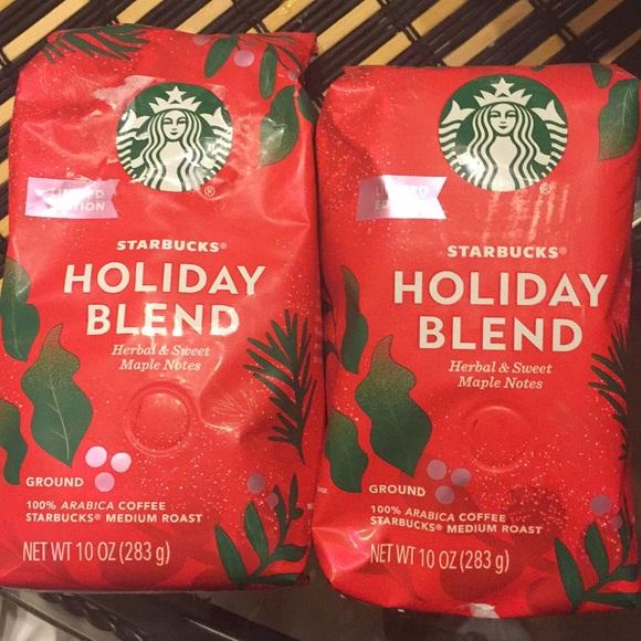 Starbucks Holiday blend 10 oz grounded 5-21 new 2